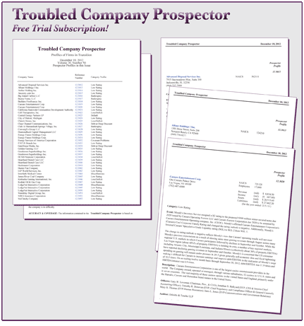 Troubled Company Prospector
